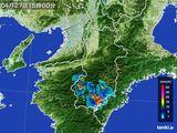 2015年04月27日の奈良県の雨雲レーダー