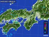 2015年04月28日の近畿地方の雨雲レーダー