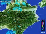 2015年04月28日の徳島県の雨雲の動き