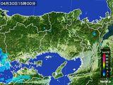 2015年04月30日の兵庫県の雨雲レーダー