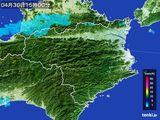 2015年04月30日の徳島県の雨雲の動き