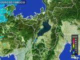2015年05月03日の滋賀県の雨雲レーダー