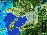 2015年05月03日の大阪府の雨雲レーダー