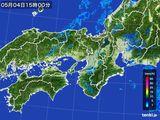 2015年05月04日の近畿地方の雨雲レーダー