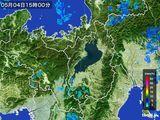 2015年05月04日の滋賀県の雨雲レーダー