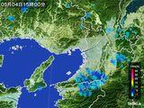 2015年05月04日の大阪府の雨雲レーダー
