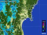 2015年05月04日の宮城県の雨雲レーダー