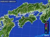 2015年05月05日の四国地方の雨雲の動き