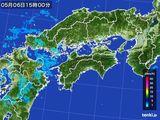 2015年05月06日の四国地方の雨雲の動き
