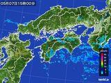 2015年05月07日の四国地方の雨雲の動き