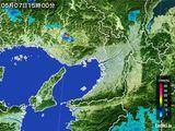 2015年05月07日の大阪府の雨雲レーダー