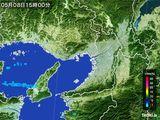 2015年05月08日の大阪府の雨雲レーダー