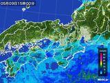 2015年05月09日の近畿地方の雨雲レーダー
