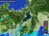2015年05月09日の滋賀県の雨雲レーダー