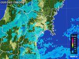 2015年05月09日の宮城県の雨雲レーダー