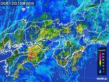 2015年05月12日の近畿地方の雨雲レーダー