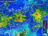 2015年05月12日の滋賀県の雨雲レーダー