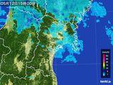 2015年05月12日の宮城県の雨雲レーダー