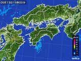 2015年05月13日の四国地方の雨雲の動き