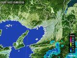 2015年05月16日の大阪府の雨雲レーダー