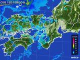 2015年05月18日の近畿地方の雨雲レーダー