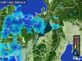 2015年05月18日の滋賀県の雨雲レーダー