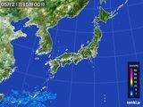 2015年05月21日の雨雲の動き
