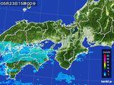 2015年05月23日の近畿地方の雨雲レーダー
