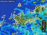 2015年05月23日の佐賀県の雨雲の動き