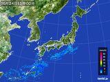2015年05月24日の雨雲の動き
