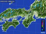 2015年05月25日の近畿地方の雨雲レーダー