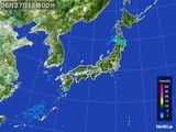 2015年05月27日の雨雲の動き