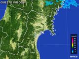 2015年05月27日の宮城県の雨雲レーダー