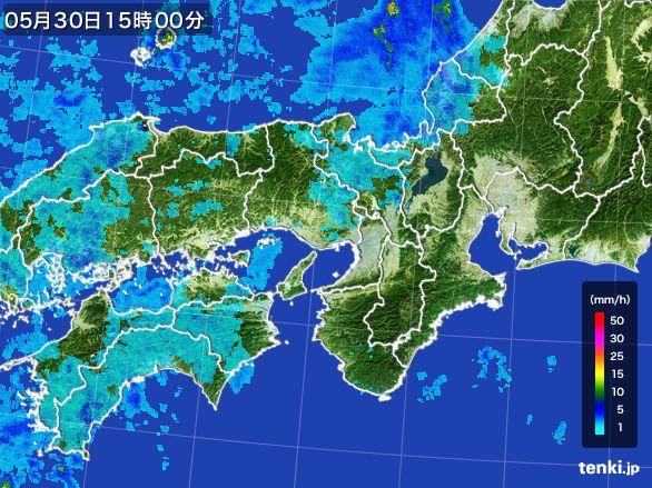 近畿地方の雨雲レーダー(2015年05月30日)