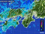 2015年05月30日の近畿地方の雨雲レーダー