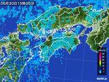 2015年05月30日の四国地方の雨雲の動き