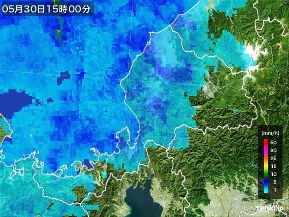 福井県の雨雲レーダー(2015年05月30日)