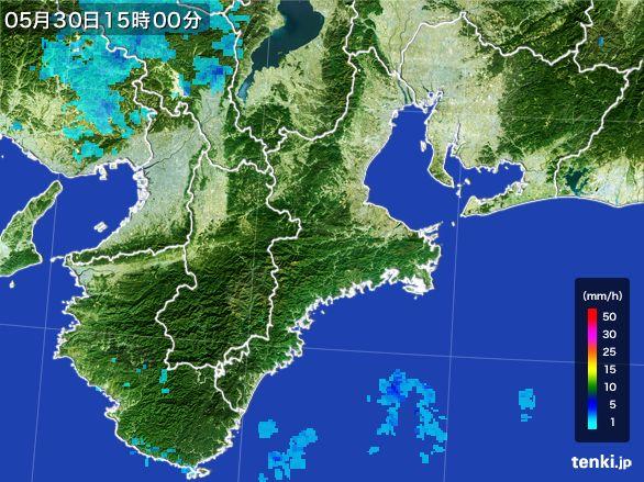 三重県の雨雲レーダー(2015年05月30日)