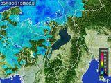 2015年05月30日の滋賀県の雨雲レーダー