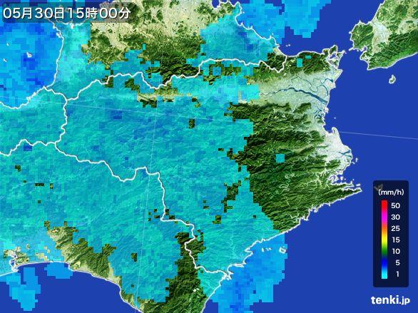 徳島県の雨雲レーダー(2015年05月30日)