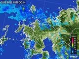 2015年05月30日の佐賀県の雨雲の動き