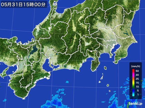 東海地方の雨雲レーダー(2015年05月31日)