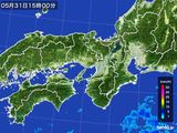 2015年05月31日の近畿地方の雨雲レーダー