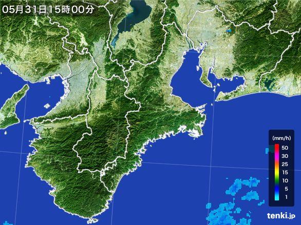 三重県の雨雲レーダー(2015年05月31日)