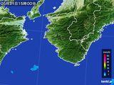 2015年05月31日の和歌山県の雨雲レーダー