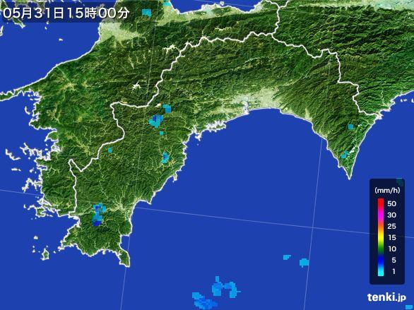 高知県の雨雲レーダー(2015年05月31日)