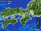 2015年06月02日の近畿地方の雨雲レーダー