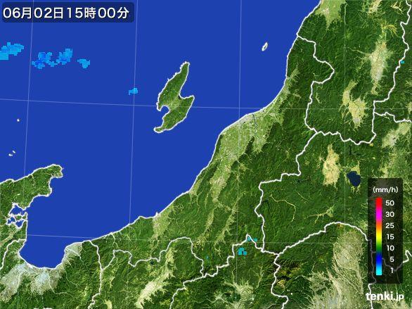 新潟県の雨雲レーダー(2015年06月02日)
