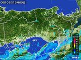 2015年06月03日の兵庫県の雨雲の動き