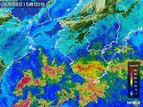 2015年06月03日の和歌山県の雨雲レーダー